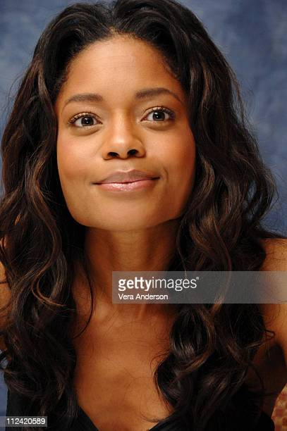 Naomie Harris during Pirates of the Caribbean At World's End Press Conference with Orlando Bloom Gore Verbinski Chow Yun Fat Geoffrey Rush Jerry...