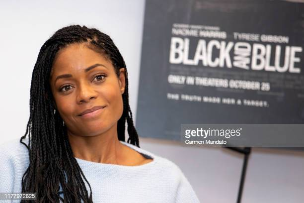 Naomie Harris is seen during the Black Blue cast members' visit to Morehouse College on October 24 2019 in Atlanta Georgia