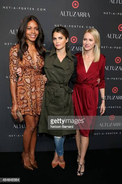 Naomie Harris Keri Russell and Naomi Watts attend the Altuzarra for Target launch event at Skylight Clarkson Sq on September 4 2014 in New York City