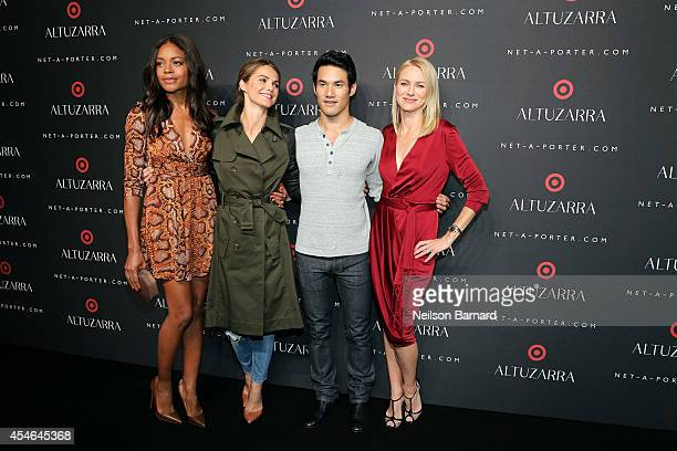 Naomie Harris Keri Russell fashion designer Joseph Altuzarra and Naomi Watts attend the Altuzarra for Target launch event at Skylight Clarkson Sq on...