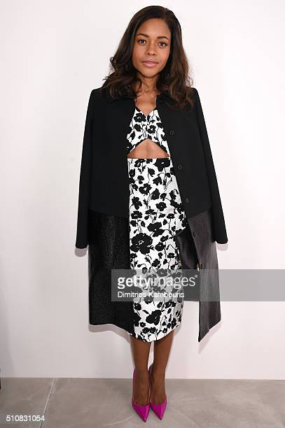 Naomie Harris poses backstage at the Michael Kors Fall 2016 Runway Show during New York Fashion Week The Shows at Spring Studios on February 17 2016...