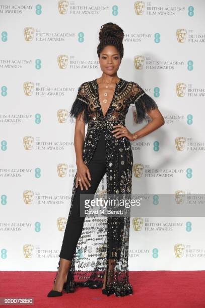 Naomie Harris poses in the press room during the EE British Academy Film Awards held at Royal Albert Hall on February 18 2018 in London England