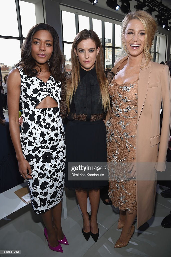 Naomie Harris, Riley Keough, and Blake Lively attend the Michael Kors Fall 2016 Runway Show during New York Fashion Week: The Shows at Spring Studios on February 17, 2016 in New York City.
