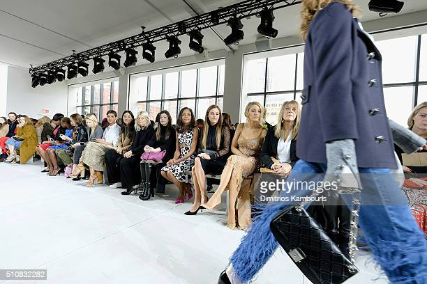 Naomie Harris Riley Keough Blake Lively and Elaine Lively attend the Michael Kors Fall 2016 Runway Show during New York Fashion Week The Shows at...