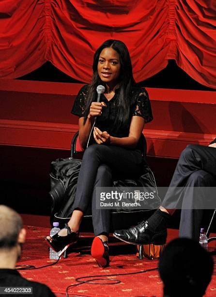 """Naomie Harris speaks in a Q&A at a special screening of """"Mandela: Long Walk To Freedom"""" hosted by The Weinstein Company and Pathe at The Coronet on..."""