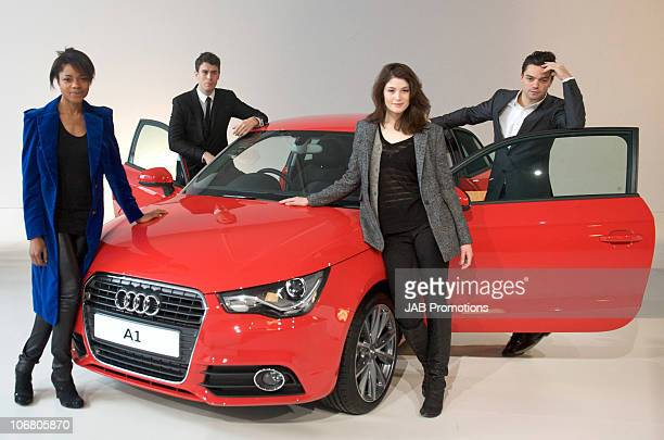 Naomie Harris, Toby Kebbell, Gemma Arterton and Dominic Cooper attend the AUDI A1 launch at Battersea Power station on November 13, 2010 in London,...