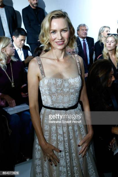 Naomie Watts attends the Christian Dior show as part of the Paris Fashion Week Womenswear Spring/Summer 2018 on September 26 2017 in Paris France
