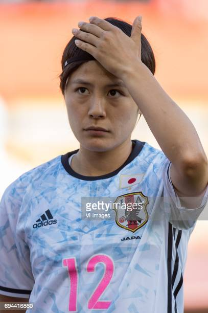 Naomoto Hikaru of Japanduring the friendly match between the women of The Netherlands and Japan at the Rat Verlegh stadium on June 9, 2017 in Breda,...