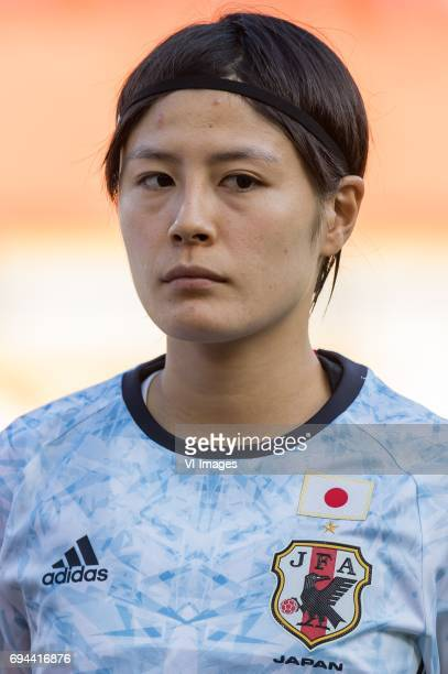 Naomoto Hikaru of Japanduring the friendly match between the women of The Netherlands and Japan at the Rat Verlegh stadium on June 9 2017 in Breda...