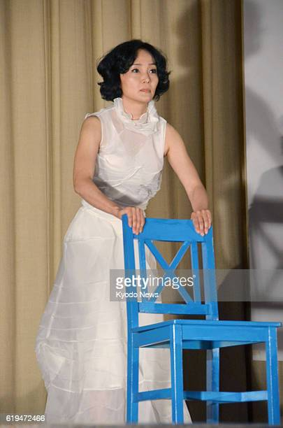 Naoshima Japan Japanese actress Kaho Minami performs in a digest version of an outdoor play based on Hans Christian Andersen's ''The Little Mermaid''...
