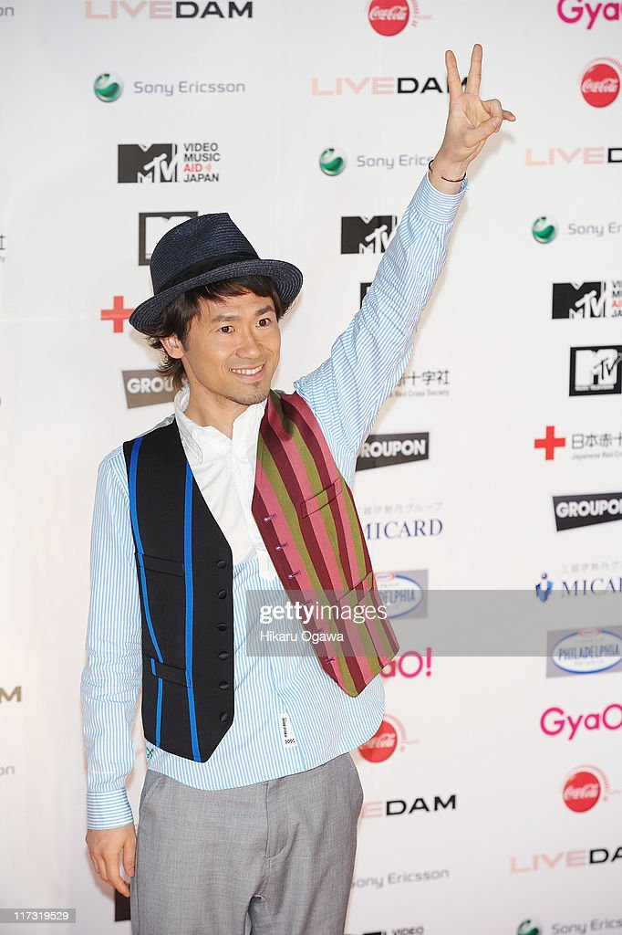 Naoto Inti Raymi walks on the red carpet during the MTV Video Music Aid Japan on June 25, 2011 in Chiba, Japan.