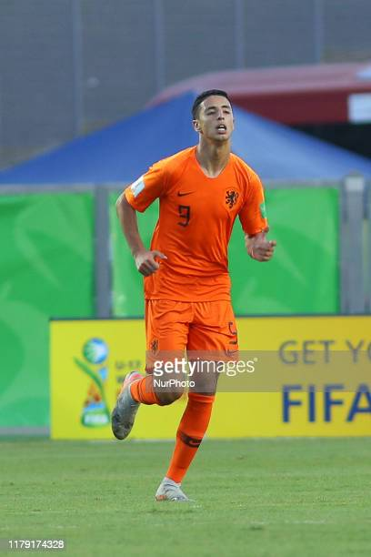 Naoufal Bannis of Netherlands during the FIFA U17 World Cup Brazil 2019 group D match between Netherlands and Senegal at Estadio Kleber Andrade on...