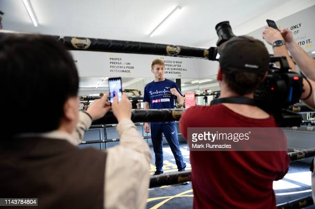 Naoya Inoue of Japan during a Media Work out ahead of the Muhammad Ali Trophy SemiFinals World Boxing Super Series Fight Night at MTK Global Scotland...