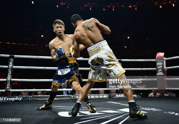 Naoya Inoue of Japan takes on Emmanuel Rodriguez of Puerto Rico during the WBSS Bantamweight Semi Final IBF World Championship fight at the Muhammad...