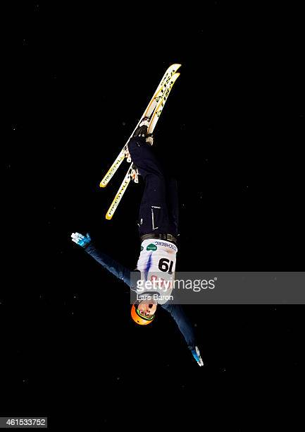 Naoya Tabara of Japan competes during Men's Aerials Training ahead of the FIS Freestyle Ski and Snowboard World Championships on January 14 2015 in...