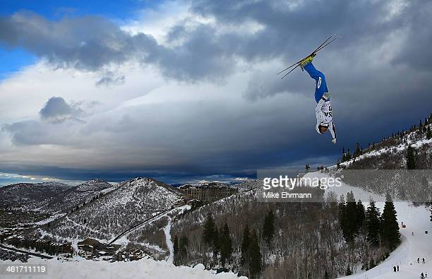 Naoya Tabara of Japan competes during qualifying for the Mens Aerials at the FIS Freestyle Ski World Cup Aerial Competition at Deer Valley on January...