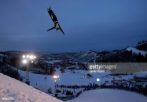 Naoya Tabara of Japan competes in the Men's Aerial qualifications during the 2010 FIS Freestyle Skiing World Cup on January 15 2010 in Park City Utah