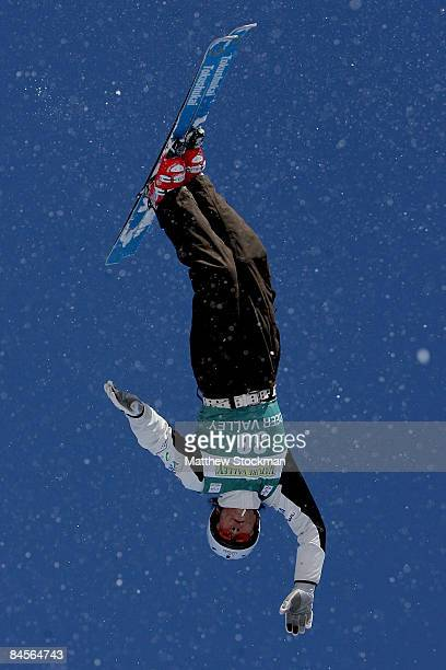 Naoya Tabara of Japan during practice for the aerials qualification during the Visa Freestyle International a FIS Freestyle World Cup event at Deer...