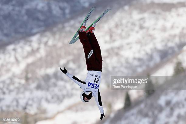 Naoya Tabara of Japan jumps dring practice in the FIS Freestyle Skiing Aerial World Cup at the Visa Freestyle International at Deer Valley on...
