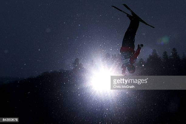 Naoya Tabara of Japan jumps during practice for the Men's Aerials event on day one of the Freestyle World Cup January 18 2009 at the Olympic Jumping...