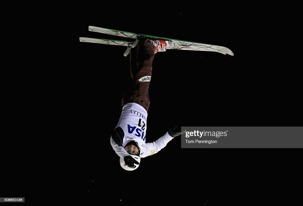 Naoya Tabara of Japan jumps during the final round in the FIS Freestyle Skiing Aerial World Cup at the Visa Freestyle International at Deer Valley on February 5, 2016 in Park City, Utah.