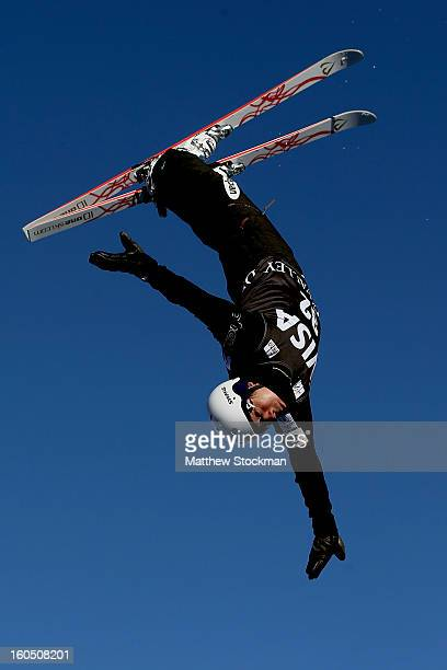 Naoya Tabara of Japan jumps while training for the Mens Aerials during the Visa Freestyle International at Deer Valley on February 1 2013 in Park...