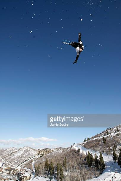 Naoya Tabara of Japan practices ahead of the Men's Aerial competition during the 2010 Freestyle FIS World Cup on January 14 2010 at Deer Valley...