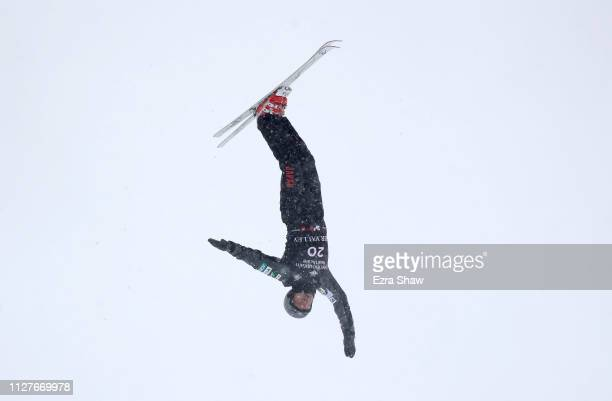 Naoya Tabara of Japan takes a practice jump before the Men's Aerials Qualification at the FIS Freestyle Ski World Championships on February 05 2019...