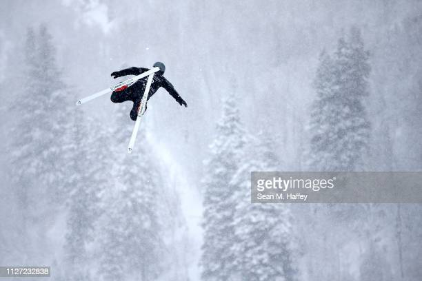Naoya Tabara of Japan takes a training run during the Ladies' Aerials training session for the FIS Freestyle Ski World Championships on February 03...