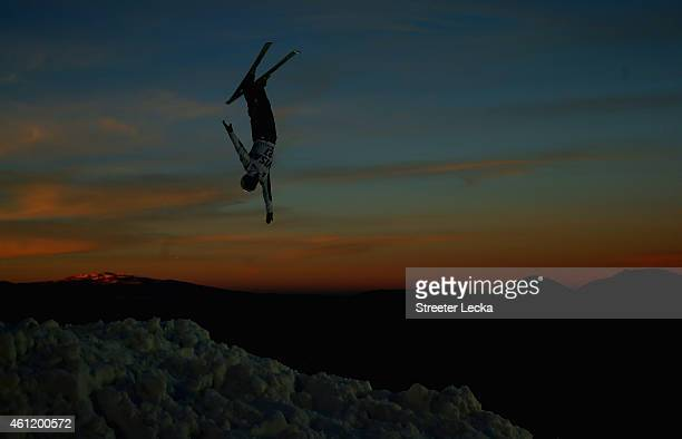 Naoya Tabara of Japan trains ahead of the men's aerials event during the 2015 FIS Freestyle Ski World Cup at Deer Valley on January 8 2015 in Park...