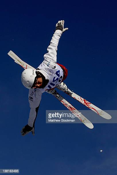 Naoya Tabara of Japan trains for the Men's Aerials during the Visa Freestyle International FIS Freestyle World Cup at Deer Valley on February 3 2012...