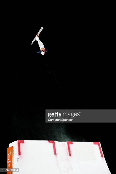 Naoya Tabara of Japan trains prior to the Freestyle Skiing Men's Aerials Qualification on day eight of the PyeongChang 2018 Winter Olympic Games at...