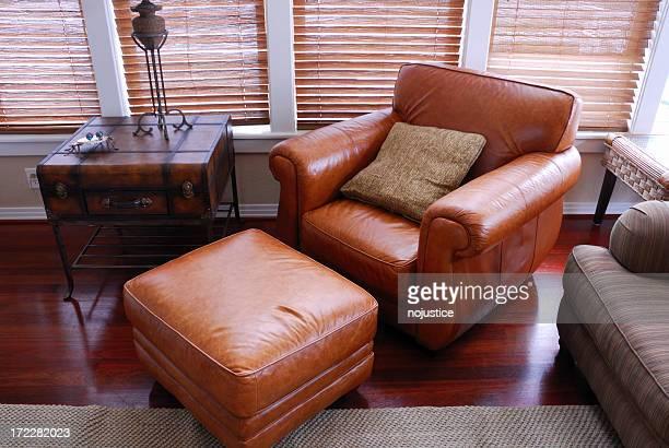 nap chair - ottomane stockfoto's en -beelden