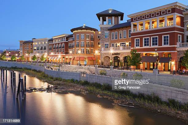 napa riverfront - napa valley stock pictures, royalty-free photos & images