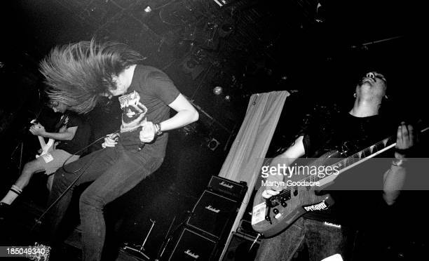 Napalm Death perform on stage at the ICA London United Kingdom 1990