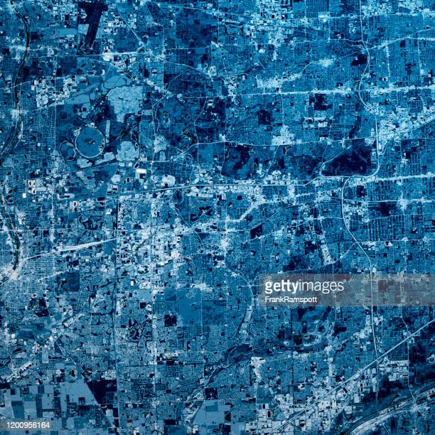 naperville illinois 3d render map blue top view oct 2019 - frankramspott imagens e fotografias de stock