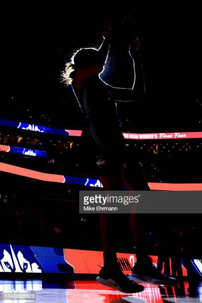 Napheesa Collier of the UConn Huskies is introduced prior to the game against the Notre Dame Fighting Irish in the semifinals of the 2019 NCAA...