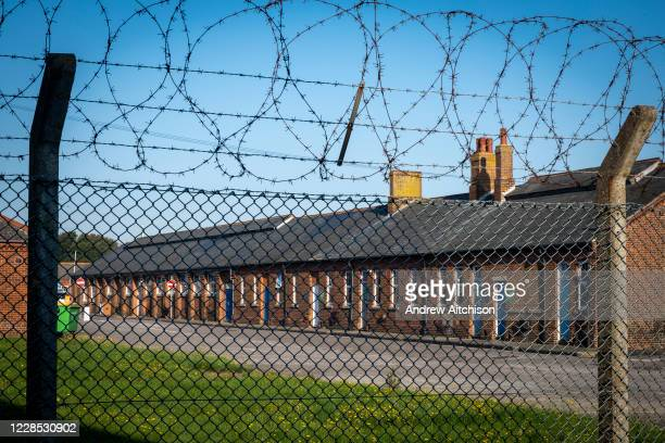Napier Barracks in Folkestone Kent, recently taken over by the UK home office to be turned into an assessment and dispersal facility for asylum...