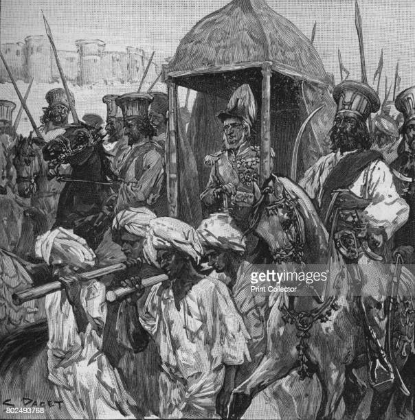 Napier In Full Uniform Was Borne Into Hyderabad in a Magnificent Palanquin' 1902 The Conquest of Scinde Pakistan From Battles of the Nineteenth...