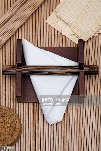 Napkins in a napkin holder