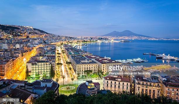 Naples by night, Italy