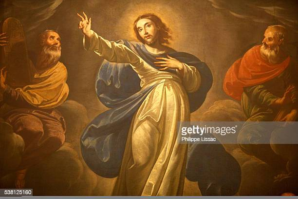 naples church painting : the transfiguration - transfiguration of jesus stock pictures, royalty-free photos & images