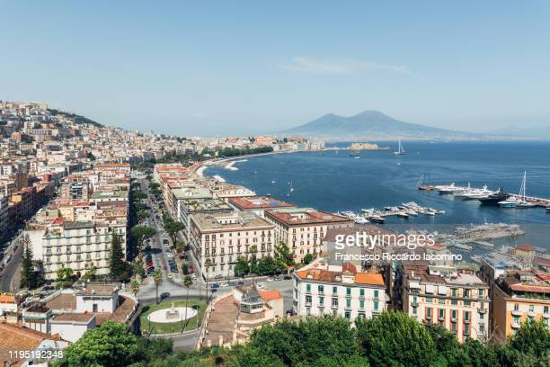 naples, cityscape from posillipo - naples italy stock pictures, royalty-free photos & images