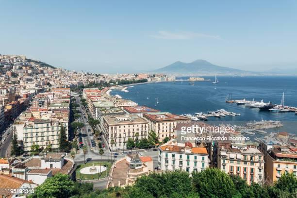 naples, cityscape from posillipo - baia foto e immagini stock