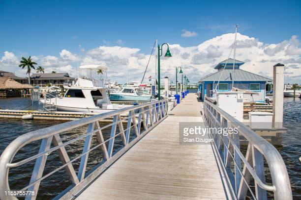 naples florida city dock, charter boats - city_(florida) stock pictures, royalty-free photos & images