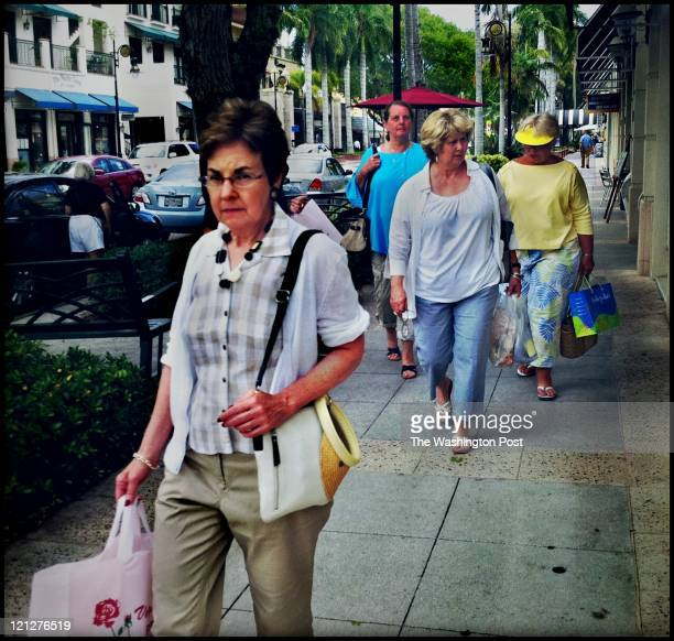On most days there's steady stream of shoppers on 5th Ave in Naples Overall sales of luxury items in the US are up according to a recent report...