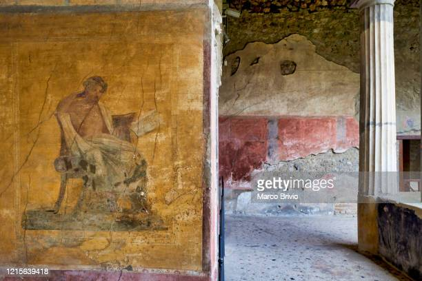naples italy. pompeii archaeological site - marco brivio stock pictures, royalty-free photos & images