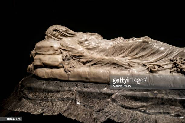 naples italy. veiled christ sculpture in sansevero chapel - marco brivio stock pictures, royalty-free photos & images