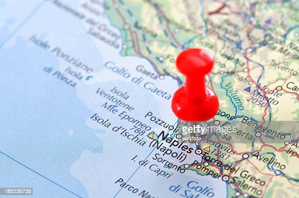 naples map - campania stock pictures, royalty-free photos & images