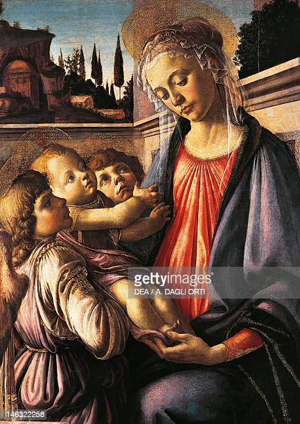 Naples Museo Nazionale Di Capodimonte Madonna and Child with Two Angels 14681469 by Sandro Botticelli tempera on canvas 100x71 cm